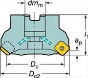 Face//Profile Mill Cut RA200-063R25-13L
